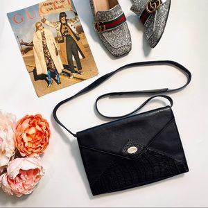 Gucci VTG Alligator Envelope Clutch & Shoulder Bag